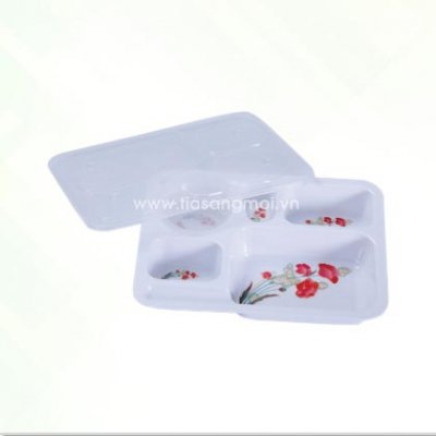 Khay cơm nhựa Melamin PT-KF63